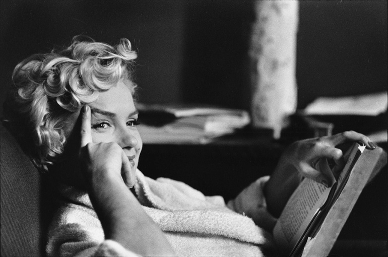 Actress Marilyn Monroe, photo by Elliot Erwitt, New York, 1956